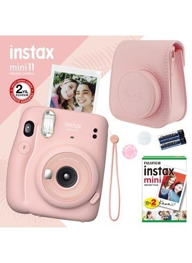 Fujifilm instax mini 11 Pembe Fotoğraf Makinesi ve Hediye Seti 4 Pembe